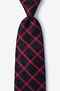 Red Cotton Joaquin Extra Long Tie