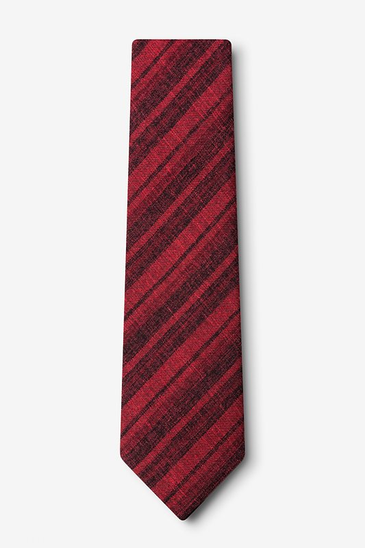 Katy Red Extra Long Tie