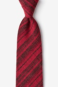 Red Cotton Katy Extra Long Tie