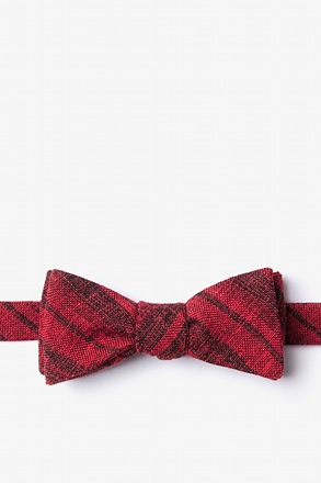 Katy Red Skinny Bow Tie