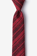 Red Cotton Katy Skinny Tie