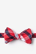 Red Cotton Kennewick Butterfly Bow Tie