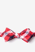 Red Cotton Kennewick Diamond Tip Bow Tie