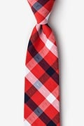 Red Cotton Kennewick Extra Long Tie