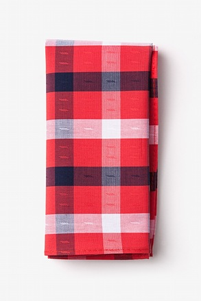 Kennewick Red Pocket Square