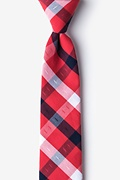 Red Cotton Kennewick Skinny Tie
