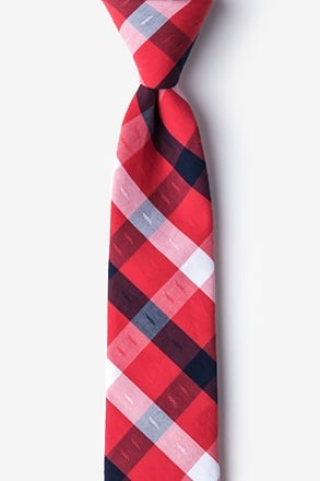 _Kennewick Red Skinny Tie_