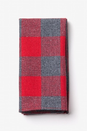 Kent Red Pocket Square