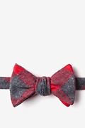 Red Cotton Kent Self-Tie Bow Tie