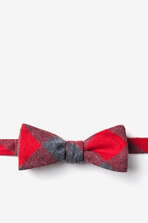 _Kent Red Skinny Bow Tie_