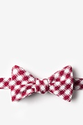 Red Cotton Kingman Butterfly Bow Tie