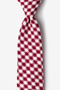 Red Cotton Kingman Extra Long Tie