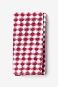 Red Cotton Kingman Pocket Square