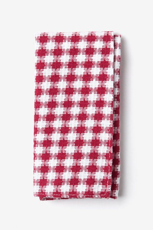 Kingman Red Pocket Square