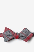 Red Cotton Kirkland Diamond Tip Bow Tie