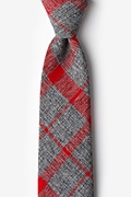 Red Cotton Kirkland Extra Long Tie