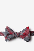 Red Cotton Kirkland Self-Tie Bow Tie