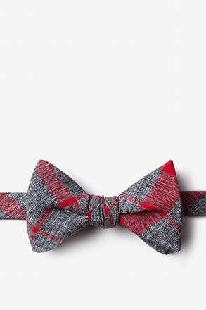 Kirkland Red Self-Tie Bow Tie