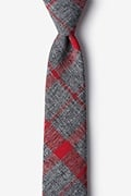 Red Cotton Kirkland Skinny Tie