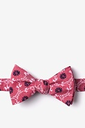 Red Cotton La Grande Self-Tie Bow Tie