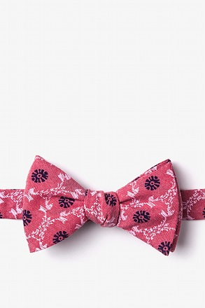 La Grande Red Self-Tie Bow Tie