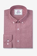 Lucas Red Classic Fit Casual Shirt