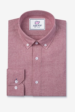 _Lucas Red Slim Fit Casual Shirt_