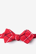 Red Cotton Maricopa Diamond Tip Bow Tie