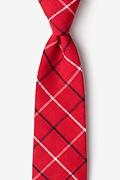 Red Cotton Maricopa Extra Long Tie