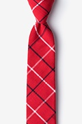 Red Cotton Maricopa Skinny Tie
