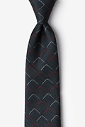 Red Cotton Mesa Tie
