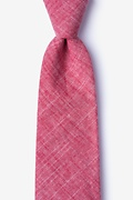 Red Cotton Norton Extra Long Tie