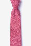 Red Cotton Norton Skinny Tie