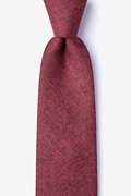 Red Cotton Norwood Extra Long Tie