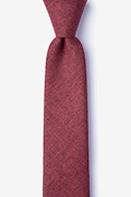 Red Cotton Norwood Skinny Tie