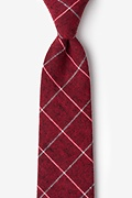 Red Cotton Phoenix Extra Long Tie