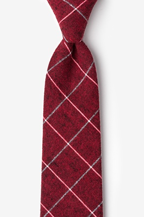 Phoenix Red Extra Long Tie