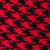 Red Cotton Red Blair Houndstooth Skinny Tie