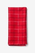 Red Cotton Red Maison Pocket Square