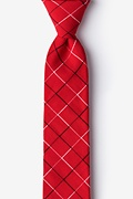 Red Cotton Red Maison Skinny Tie