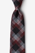 Red Cotton Richland Extra Long Tie