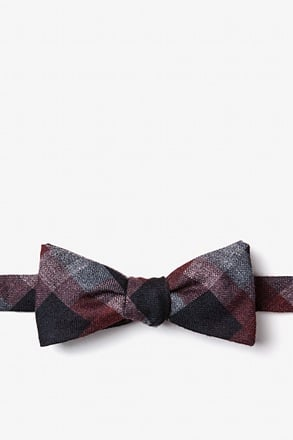 Richland Red Skinny Bow Tie