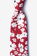 Red Cotton Romeny Extra Long Tie