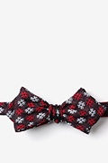 Red Cotton Roseburg Diamond Tip Bow Tie