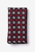 Red Cotton Roseburg Pocket Square