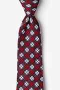Red Cotton Roseburg Tie