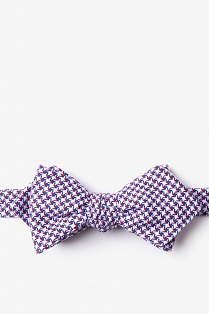 _Sadler Red Diamond Tip Bow Tie_