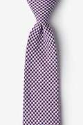 Red Cotton Sadler Extra Long Tie