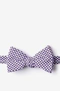 Red Cotton Sadler Self-Tie Bow Tie