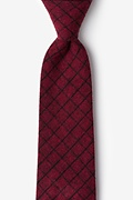 Red Cotton San Luis Extra Long Tie